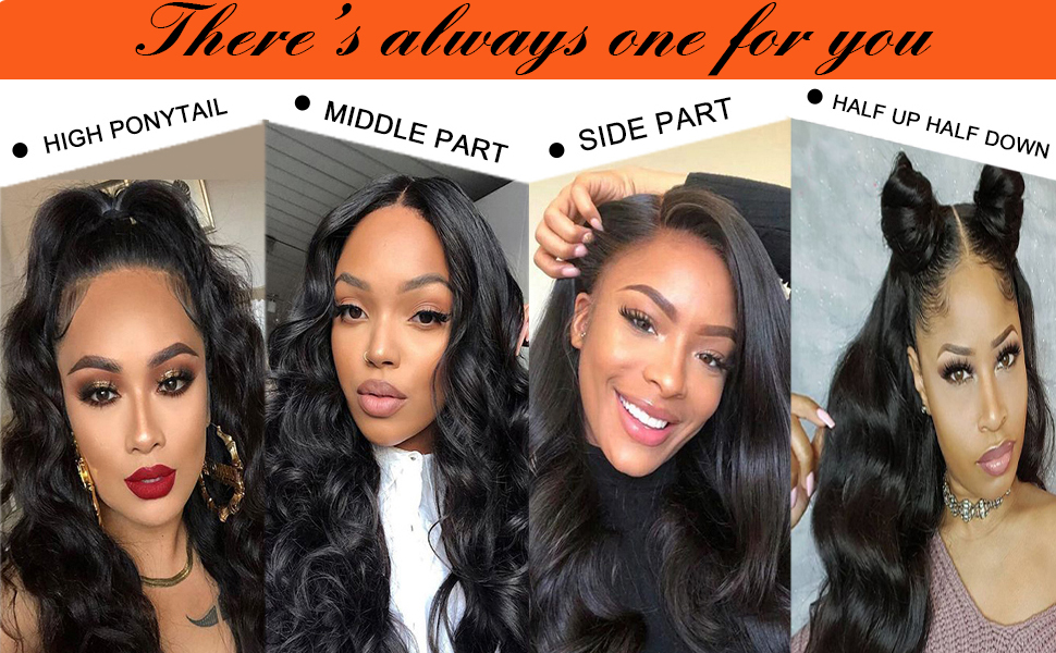 13x5 lace closure human hair wigs