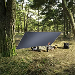 tarps heavy duty leaf sheet picnic hanging beach weights person drawstring camper dark hunting