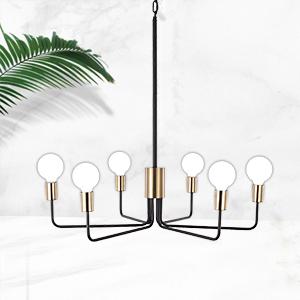 Black amp; Gold modern Chanderlier 6-Light