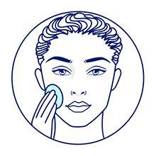 Ilustração de uma mulher lavando o rosto