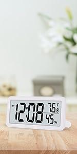 digital wall clock for bedroom white