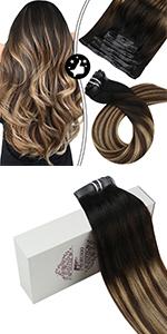 Brown balayage hair