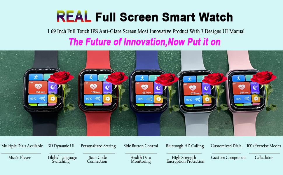 Real Full Screen Smart Watch