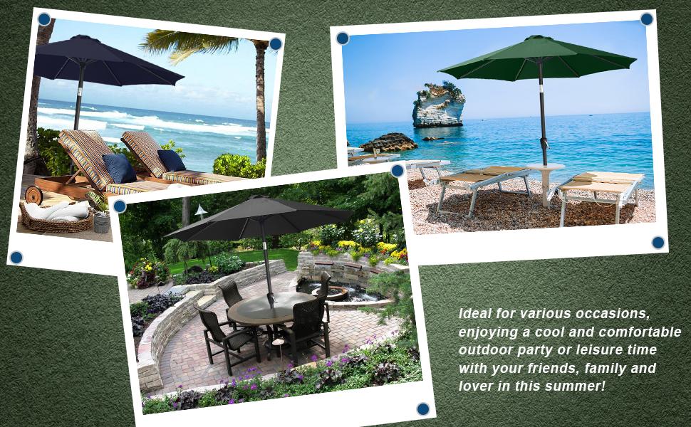 table umbrella for beach chair