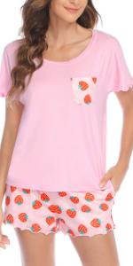 Pajama Set for Women Shorts Sleepwear