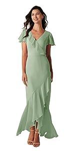 Ruffled Bridesmaid Dress