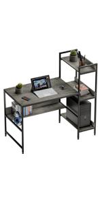 desk with storage shelf