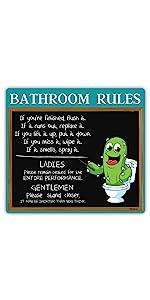 Cactus Bathroom Sign