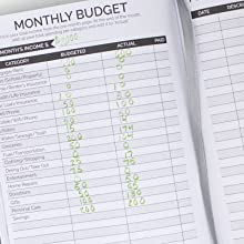 bloom undated monthly budget planner expense tracker