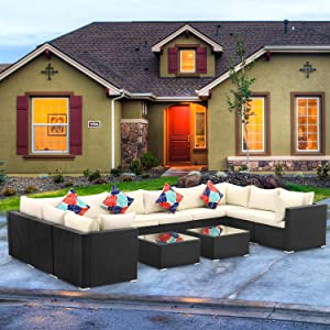 12 piece  Patio Sectional Furniture