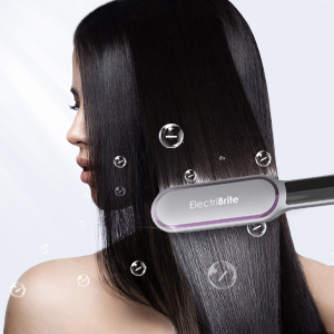 The hair straightener brush generator releases 10 million negative ionic smoothing your hair