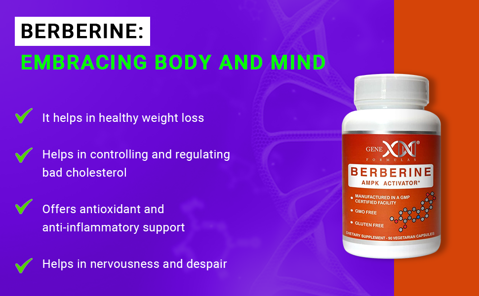 Berberine: Embracing Body and Mind. It helps in healthy weight loss offers anti-inflammatory support