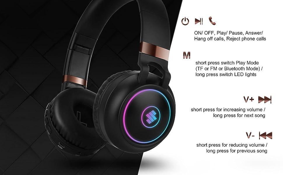 bluetooth headphone wireless over ear