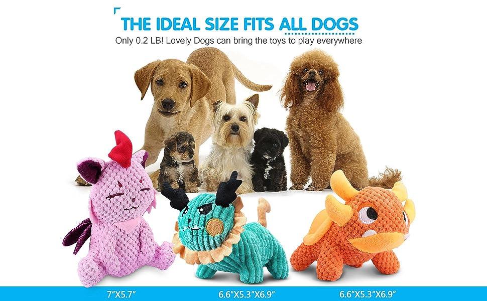 dog toys size