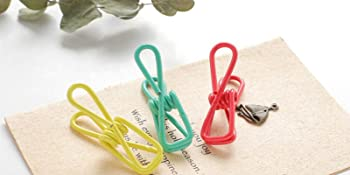 Clothesline Utility Clips, PVC-Coated Steel Wire Clips Bag Clips