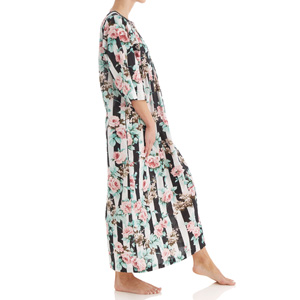 womens ladies house dress pockets ladies lounger duster nightgown winter plus size robe floral
