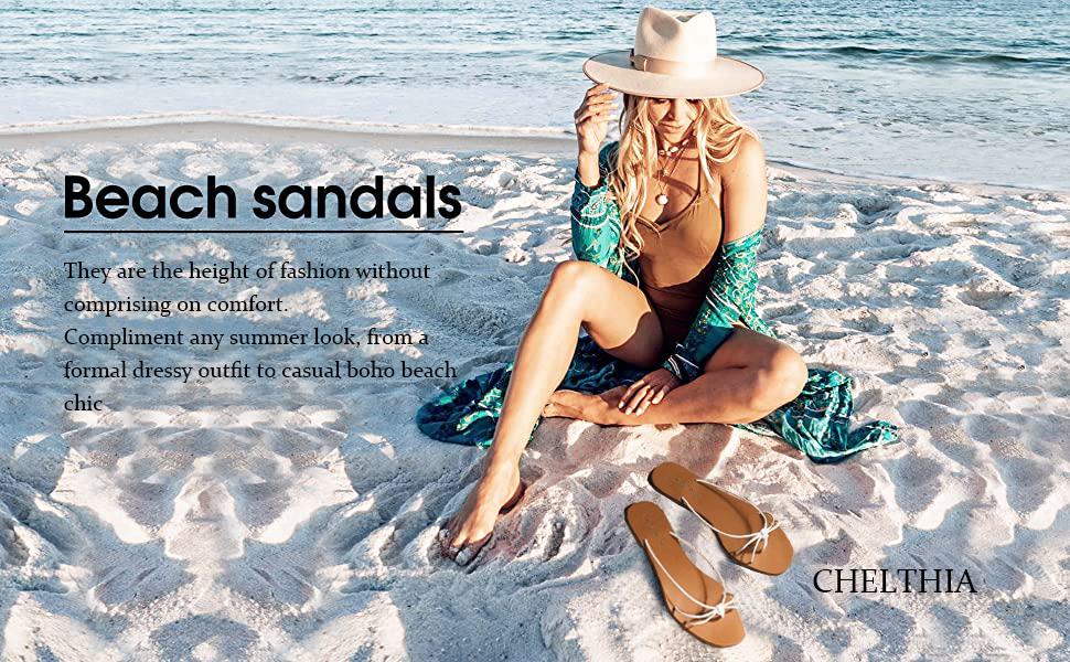 Women's Flip Flops Sandals Yoga Strap Summer Beach Slippers Thong Flats for Comfortable Walk
