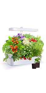 GrowLED Hydroponic Growing Kit, 10 Pods, Smart Soils Included