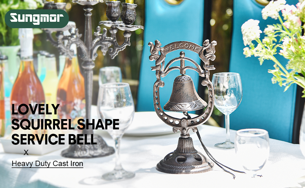 lovely squirrel shape service bell
