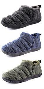 Men's Cozy Memory Foam Slippers with Plush Fleece Lined