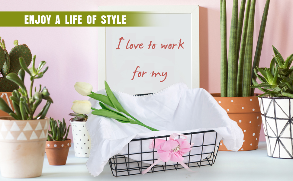 wire baskets for decorate
