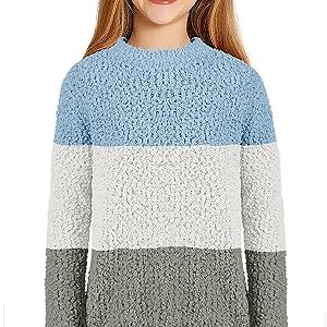 Girl Fleece knitted chunky winter pullover
