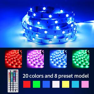 Fita LED RGB 5050 Rolo 5 metros Fonte