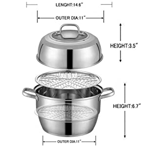 304 Stainless Steel Steamer Pot
