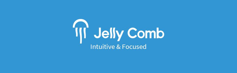 Jelly Comb Full-Size Ergonomic 2.4G Rechargeable Mouse and Mice with Round Keys