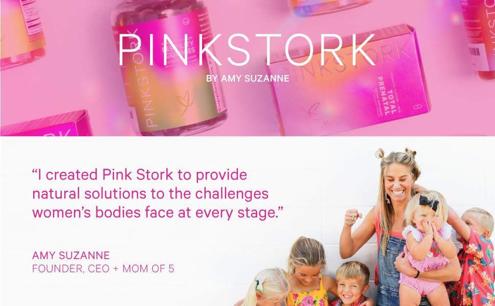 Pink Stork Logo Header Banner