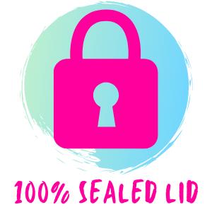 100% sealed lid