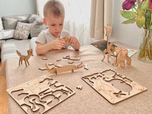 Identify body parts & assemble animals