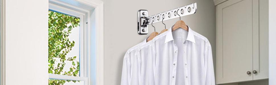wall mount clothes hanger