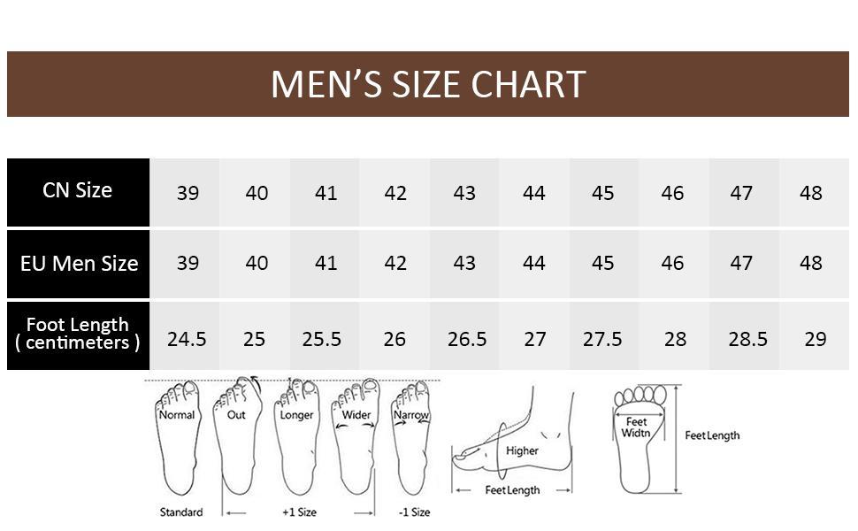 tabla de tallas de los hombres