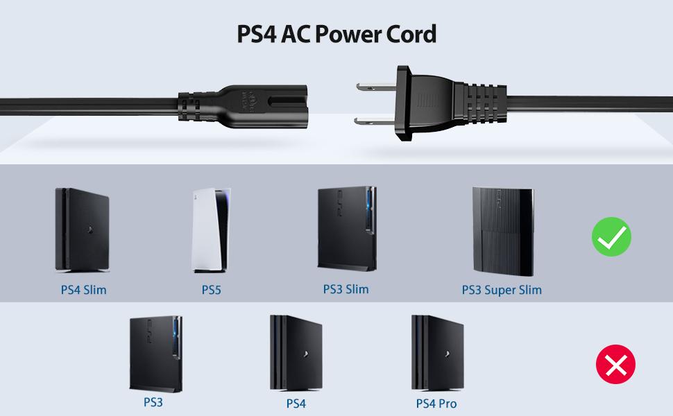 playstation 4 3 slim 5 power cord