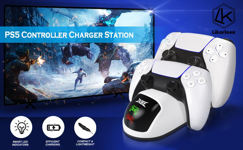 PS5 Controller Charger Charging Stand Dock Station