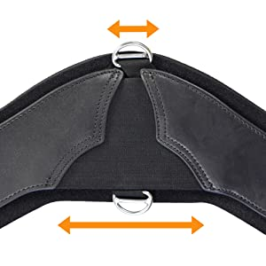 Triangular stretching center of StretchTec Shoulder Relief Cinch