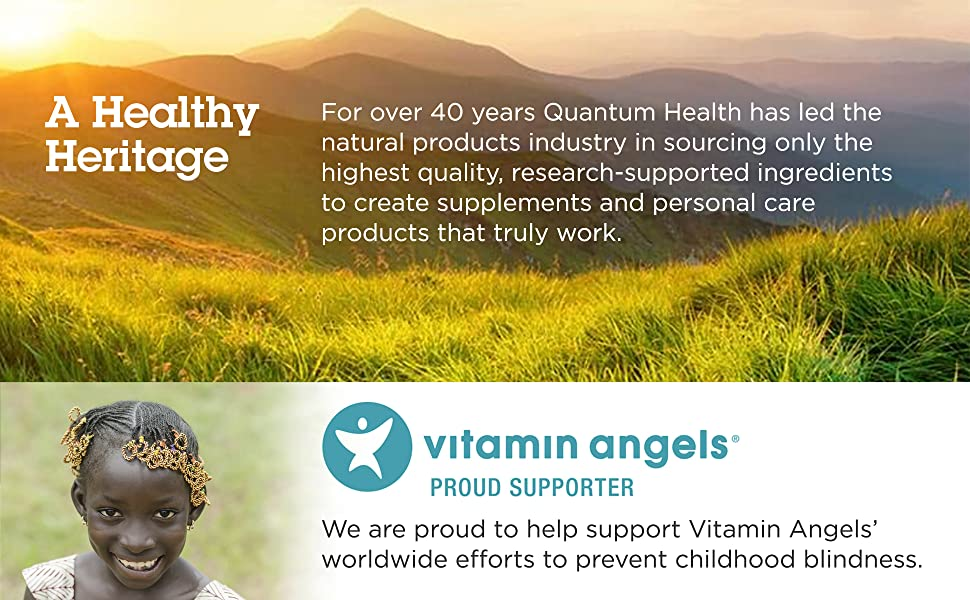 Image: Quantum Health is proud to support Vitamin Angels.