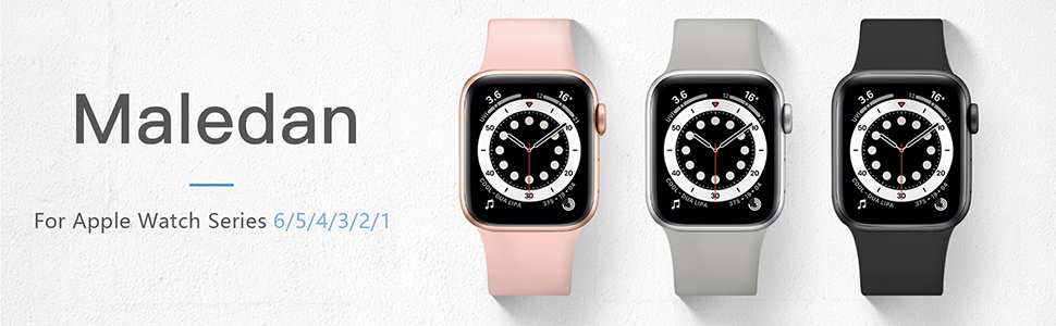 Maledan Sport Bands Compatible with Apple Watch Band 40mm 38mm 44mm 42mm