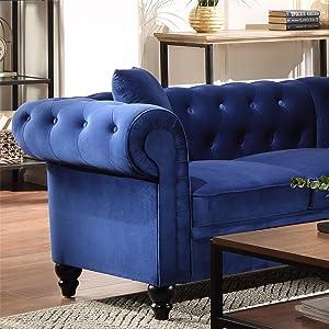 Tufted Velvet Couch