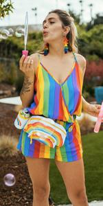 Tipsy Elves Pride Romper - Rainbow Colored Romper for Pride