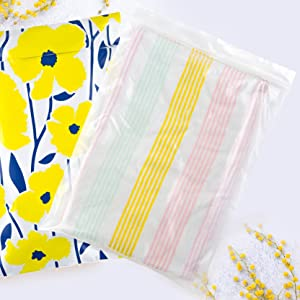 Zipper clear poly bags