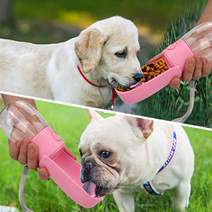 Dog Water Bottle with Filter BPA Free, Leak Proof Dog Drinking Bowl, Food Grade Material