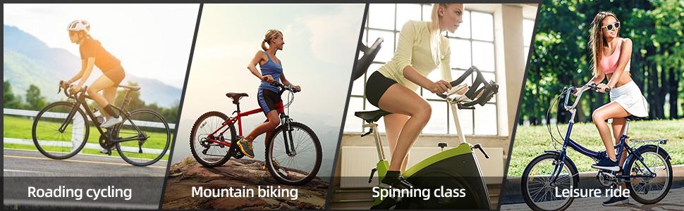 road cycling mountain biking spinning class leisure ride