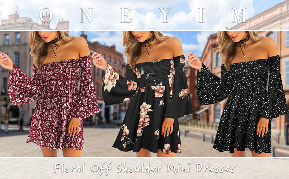off the shoulder dress for women summer