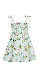 Summer Beach Dresses for Toddler Girls 2T Casual Sleeveless Flamingo Holiday Playwear Dress
