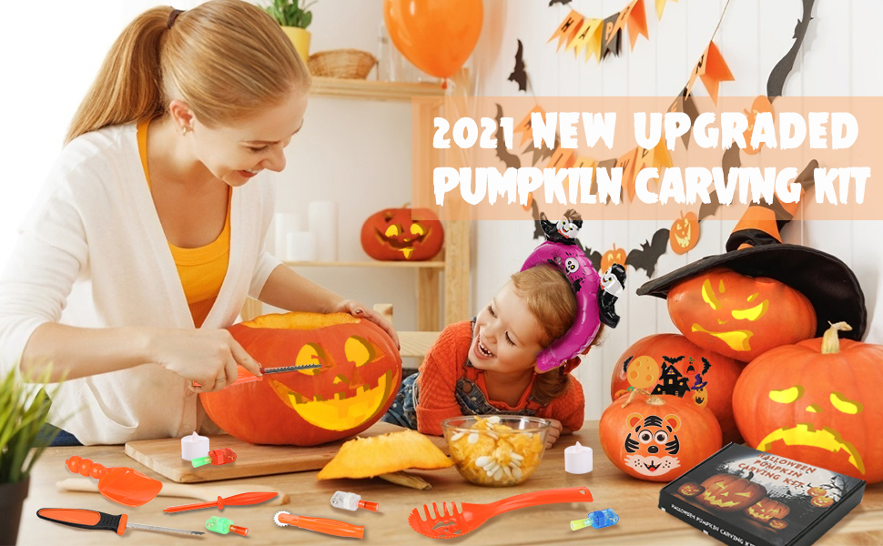 Halloween pumpkin carving tools