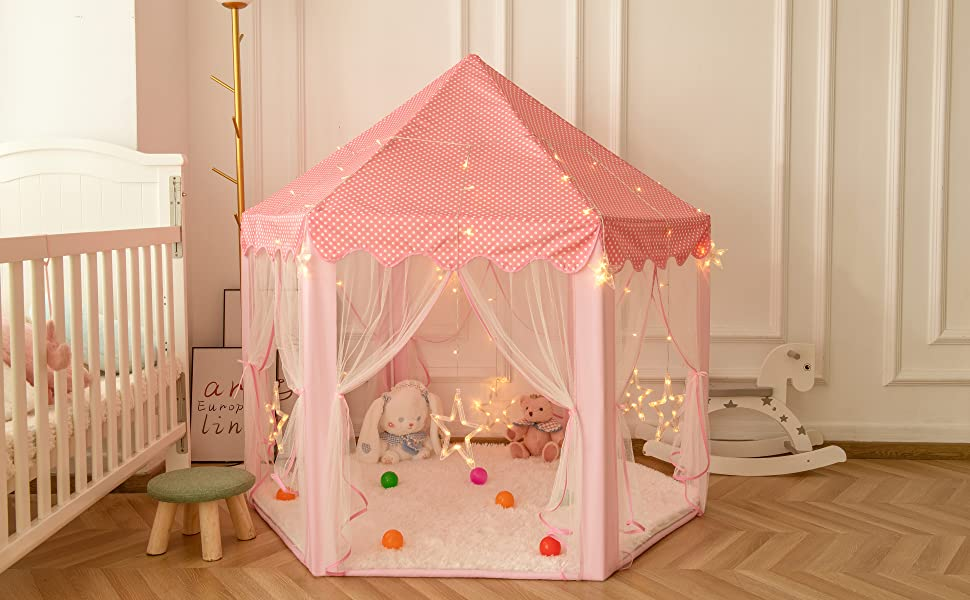 kids tent with lights
