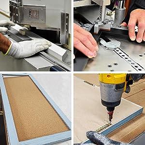 Corkboard framing process