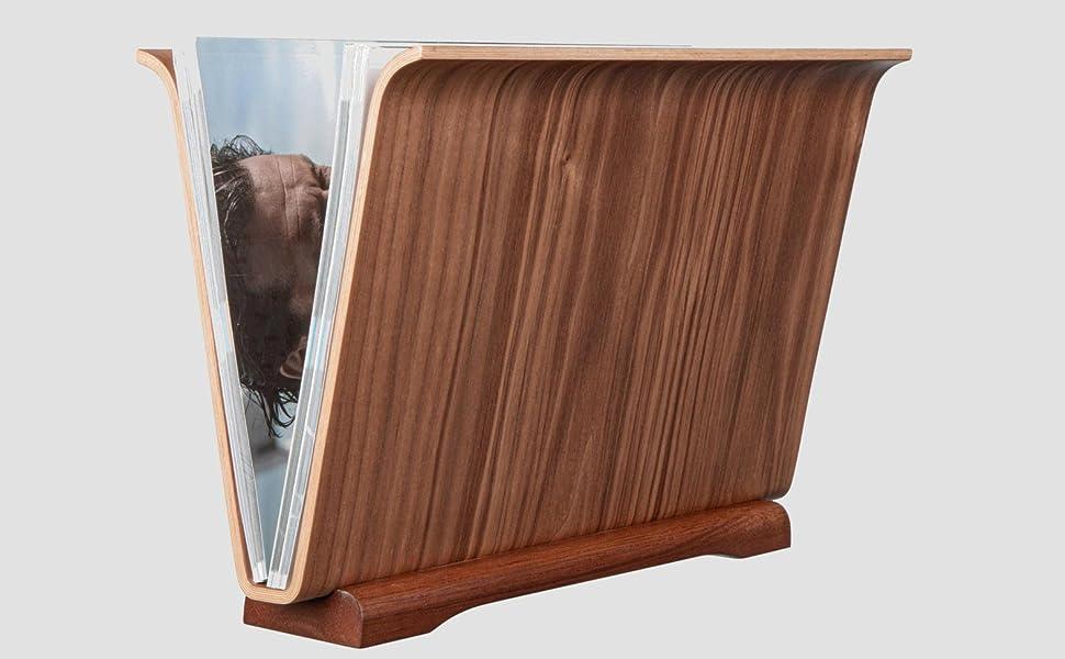 curved plywood mid century modern magazine holder rack